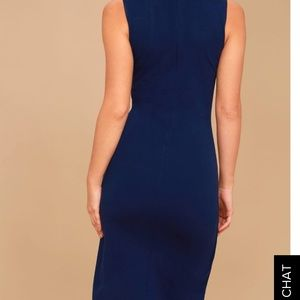 Lulu's Dresses - Navy high low dress